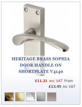 Door Handle on Short Backplate