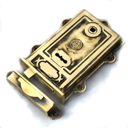 Davenport Rim Lock Brass