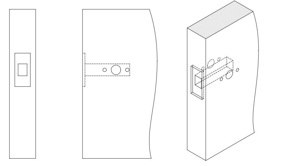 how to fit a tubular latch diagram