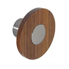 wood and steel cupboard knob k978