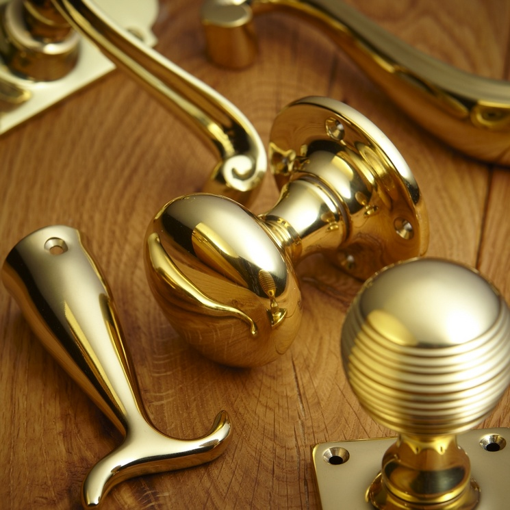 Polished Brass Door Knob Unlacquered & More Handles Blog - Unlacquered Brass - Downton Abbey Style ... pezcame.com