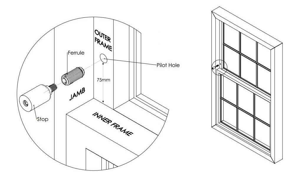 sash window stop fitting instructions
