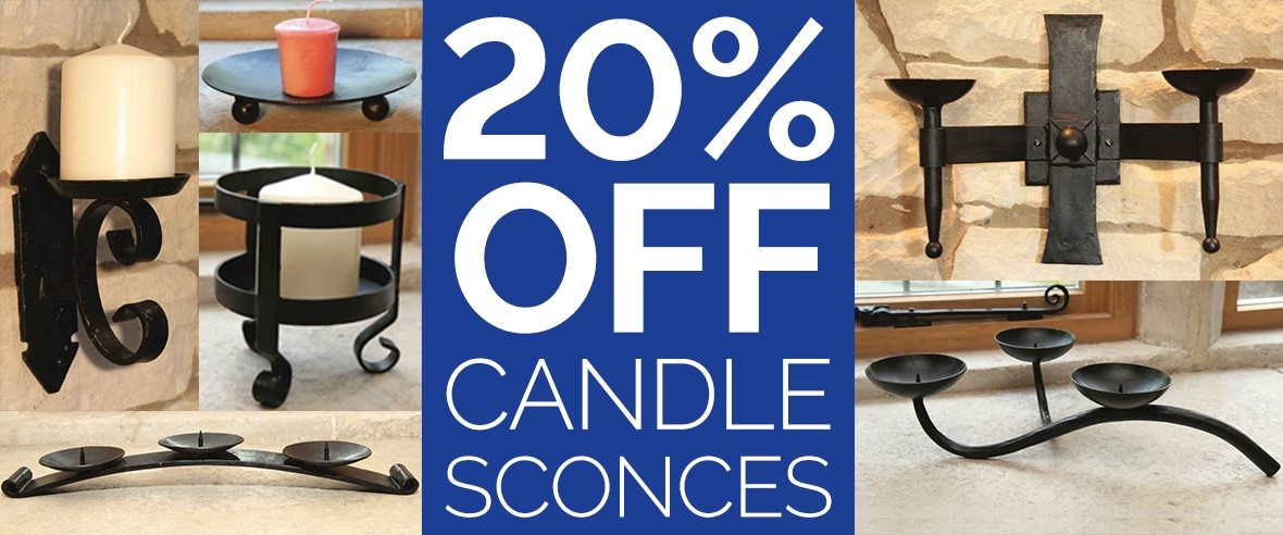 20% OFF Candle Sconces