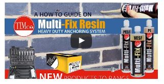TIMco's Multi-Fix Resin Heavy Duty Anchoring System