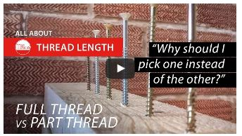 TIMco guide to screw thread lengths