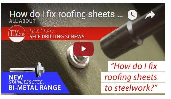 How to fix roofing sheets to steelwork?