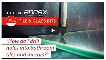 how to drill a clean hole through tile & glass