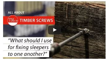 how to fix railway sleepers together using our range of In-Dex timber screws.