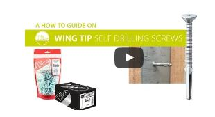 Wing Tip Self- Drilling Screws