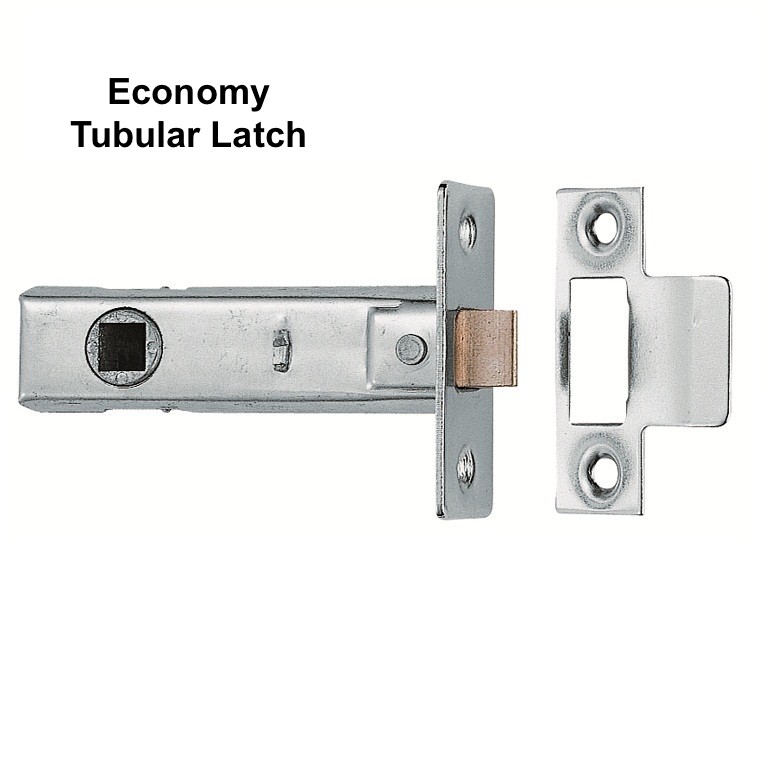 Door Latches Tubular Mortice Fit 76mm or 64mm Case Size 64mm Case Size Black Finish